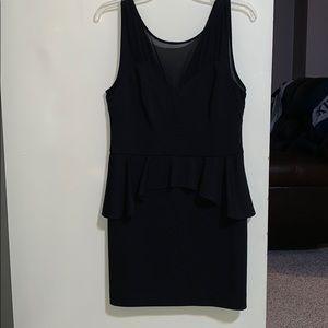 Sleeveless Black Peplum Dress